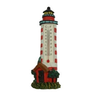 Hőmérő világítótorony 18 cm Világítótorony