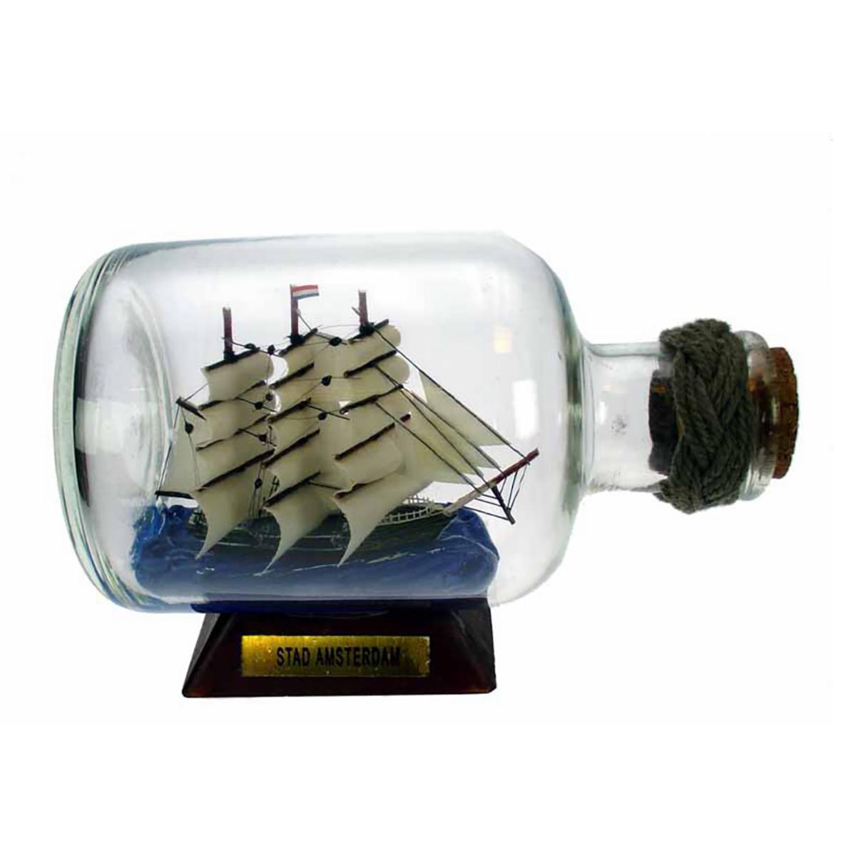 Hajó palackban Amsterdam Hajómakett üvegben