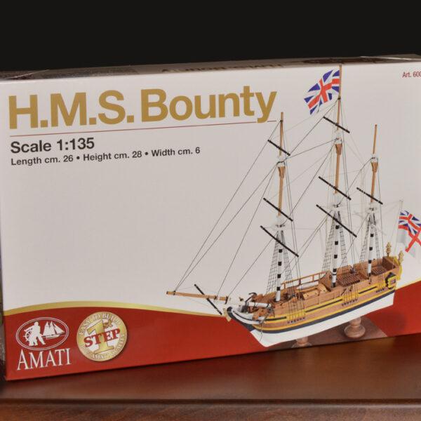 1. lépés H.M.S. Bounty hajómakett építőkészlet Amati
