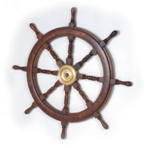 Hajókormány kabinablak órával 45 cm Kormány, Horgony