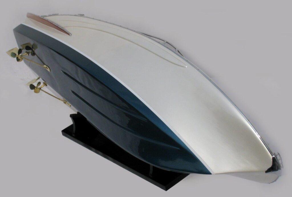 Riva Rama 44 platinium painted Motorcsónak makett