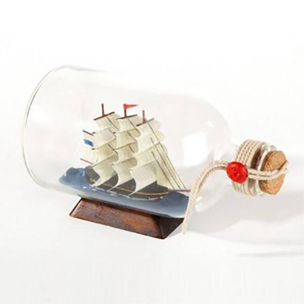 Hajómakett üvegben