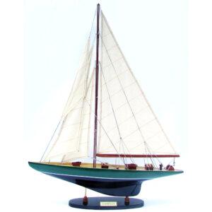 Shamrock Sötétkék & Barna festett makett L80 Vitorlás hajómakett