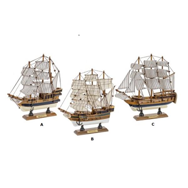Kis történelmi vitorlás 23cm Szuvenír hajómakett