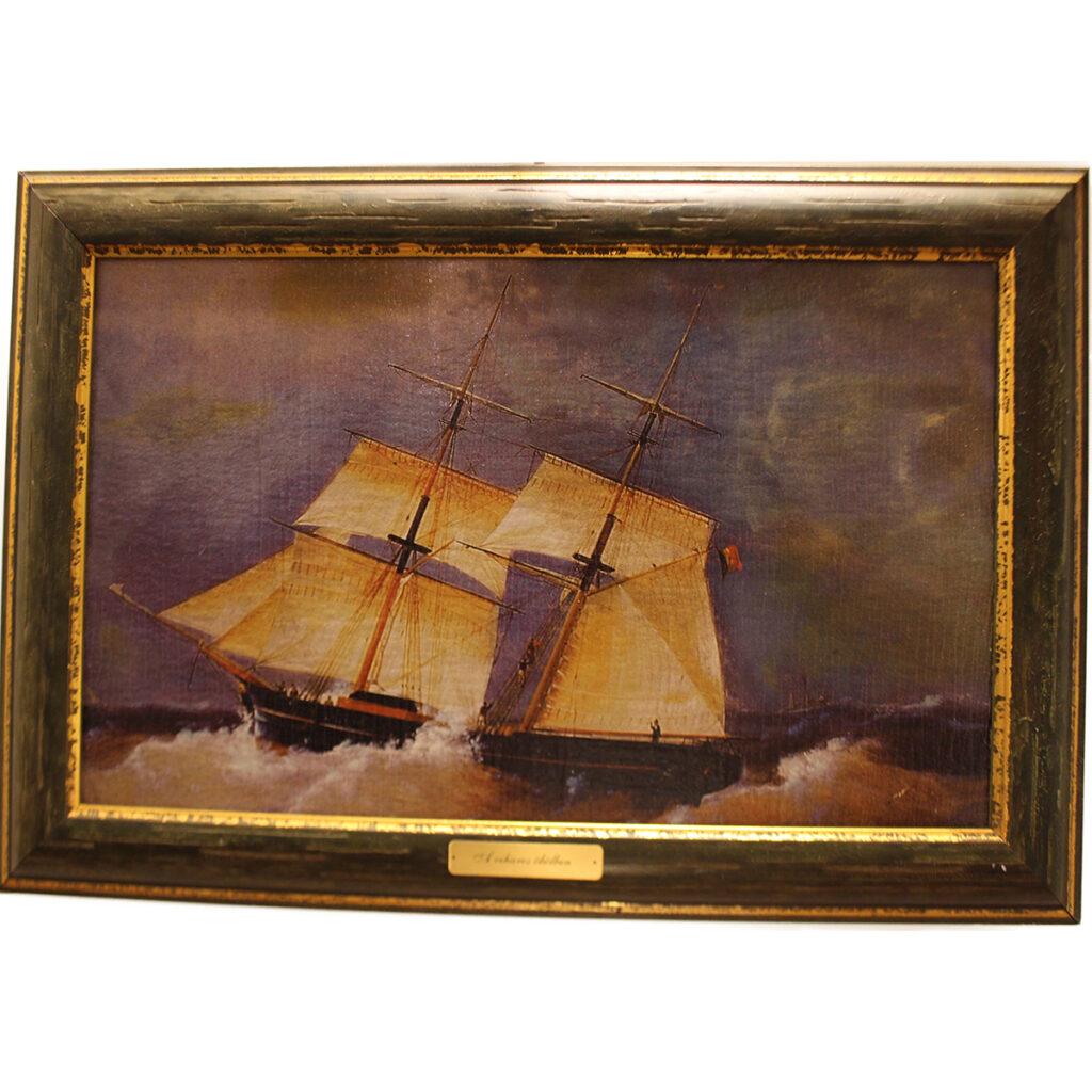 Festmény A viharos öbölben Festmények, képek