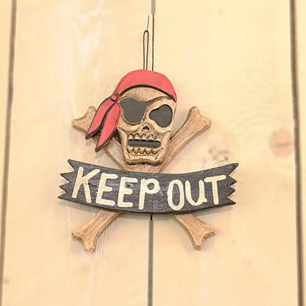 Keep Out kalóz tábla Cégér, tábla
