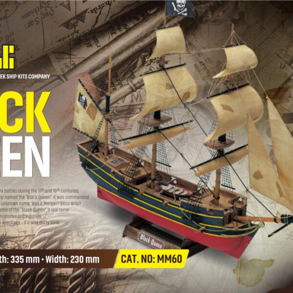 Black Queen hajómakett építőkészlet Gyerek kitt