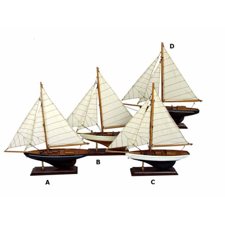 Vitorlás hajómakett több színben 33cm Szuvenír hajómakett