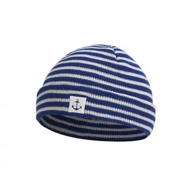 Kék fehér tengerész téli sapka Sapka, kalap
