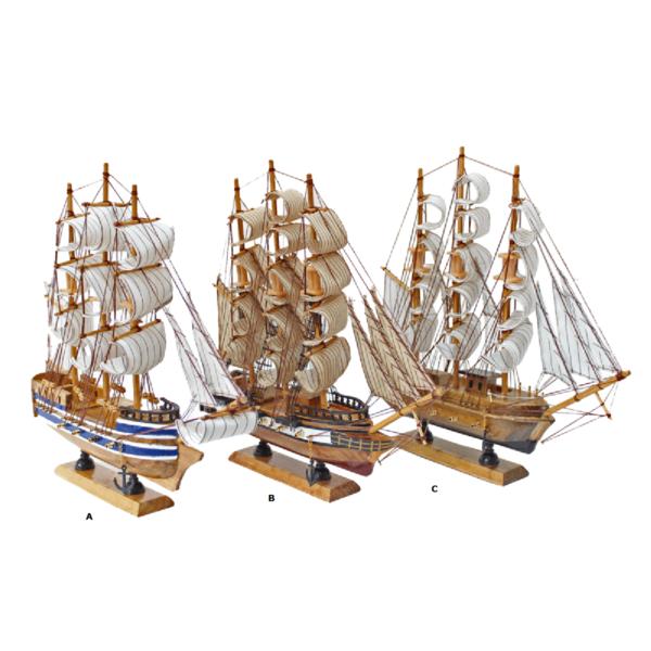 Öreg vitorlások 32cm Szuvenír hajómakett