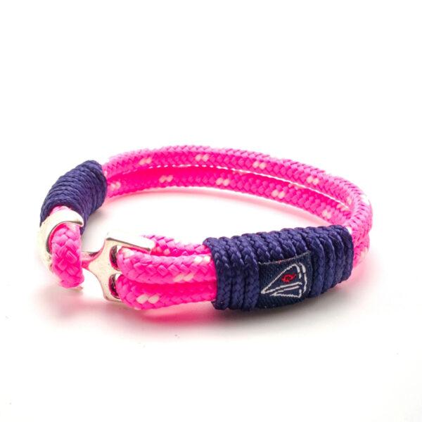 Rózsaszín fehér mintás vitorlás karkötő Ékszer